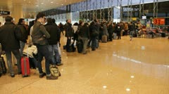 Passengers in line Stock Footage