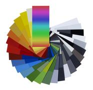 Spread color chart Stock Illustration