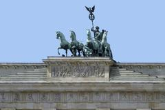 quadriga at brandenburg gate - stock photo