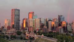 Calgary Downtown Timelapse Stock Footage