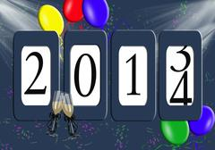 2014 Odometer for new year Stock Illustration