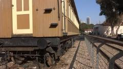 Old rail train station Stock Footage