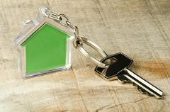 Keychain and key Stock Photos