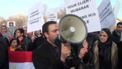 White House Demo to Oust Egypt's Mubarak Stock Footage