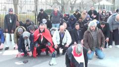 Egyptian Muslims Pray at the White House - stock footage