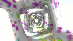 Bright CG Tunnel (HD) Stock Footage
