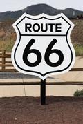 Nostalginen reitti 66 merkki Kuvituskuvat
