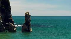 Kayaking abel tasman national park Stock Footage