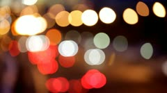 Night traffic lights of the big city - stock footage