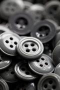 Gray buttons Stock Photos