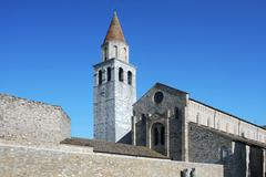 Basilica of aquileia Stock Photos