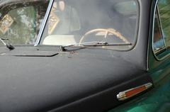 Stock Photo of closeup retro car