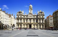 lyon, city hall, france - stock photo