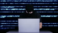 Hacker Working Table Arrested Stock Footage
