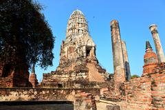 pagoda in wat ratburana - stock photo
