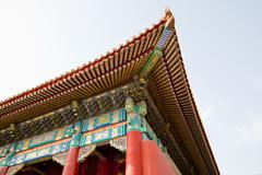 chinese historic architecture - stock photo