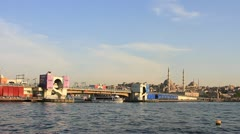 Galata Bridge, Goldenhorn Stock Footage