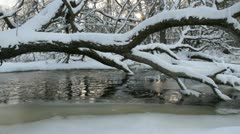 Frosty river. Stock Footage