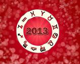 Stock Illustration of christmas astro 2013 background with horoscope symbols