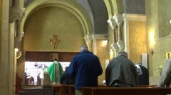 Franciscan church monastery crowd Stock Footage
