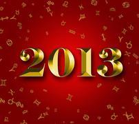 2013 astrology and horoscope symbols Stock Illustration