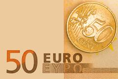 euro curency - stock photo