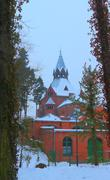 Church in the forrest. Stock Photos
