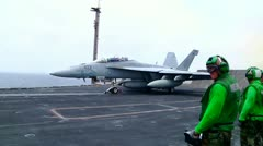 F-18 launch Stock Footage