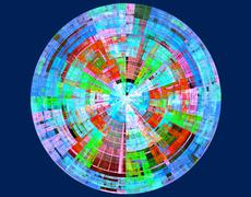 Polycolor disk Stock Illustration