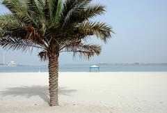 beach abu dhabi - stock photo