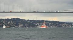 Pilotage service boat Stock Footage