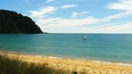 Stock Video Footage of totaranui beach
