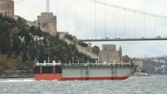 Towing Operation in Bosporus Straits Stock Footage