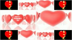 Background from the hearts Stock Footage