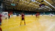 Indoor soccer/football time-lapse Stock Footage