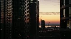 Urban Landscape at Sunset Stock Footage