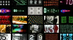 Stock Video Footage of number collection video wall data multi screen
