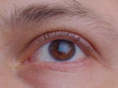 eye pupil and eyelid - stock photo