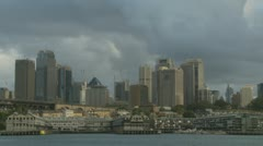 Sydney skyscrapers, cloudy day Stock Footage