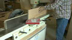 Wood jointer power tool Stock Footage