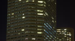 Highrise office building lights - stock footage