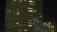 Stock Video Footage of Highrise office building lights
