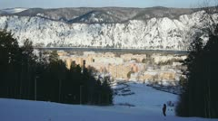 Ski Resort Divnogorsk 01 - stock footage