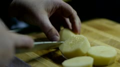 Cutting Food Stock Footage