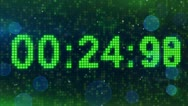 Countdown digital timer animation Stock Footage