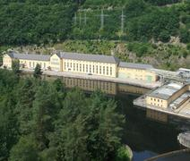 Hydropower plant in thuringia Stock Photos