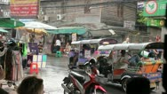 Stock Video Footage of Khaosan Road on a rainy day
