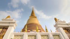 Golden Buddhist Temple Dome Stock Footage