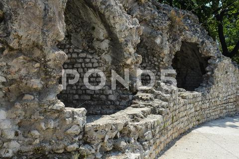 Stock photo of cimiez arenas roman ruin in nice france