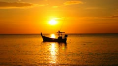 Fishing boat in the evening Stock Footage